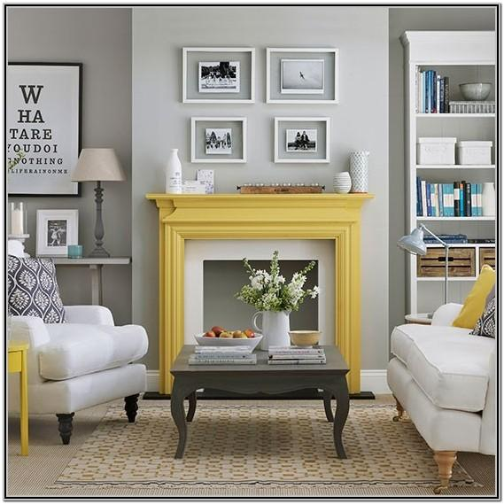 Yellow And Gray Living Room Decor