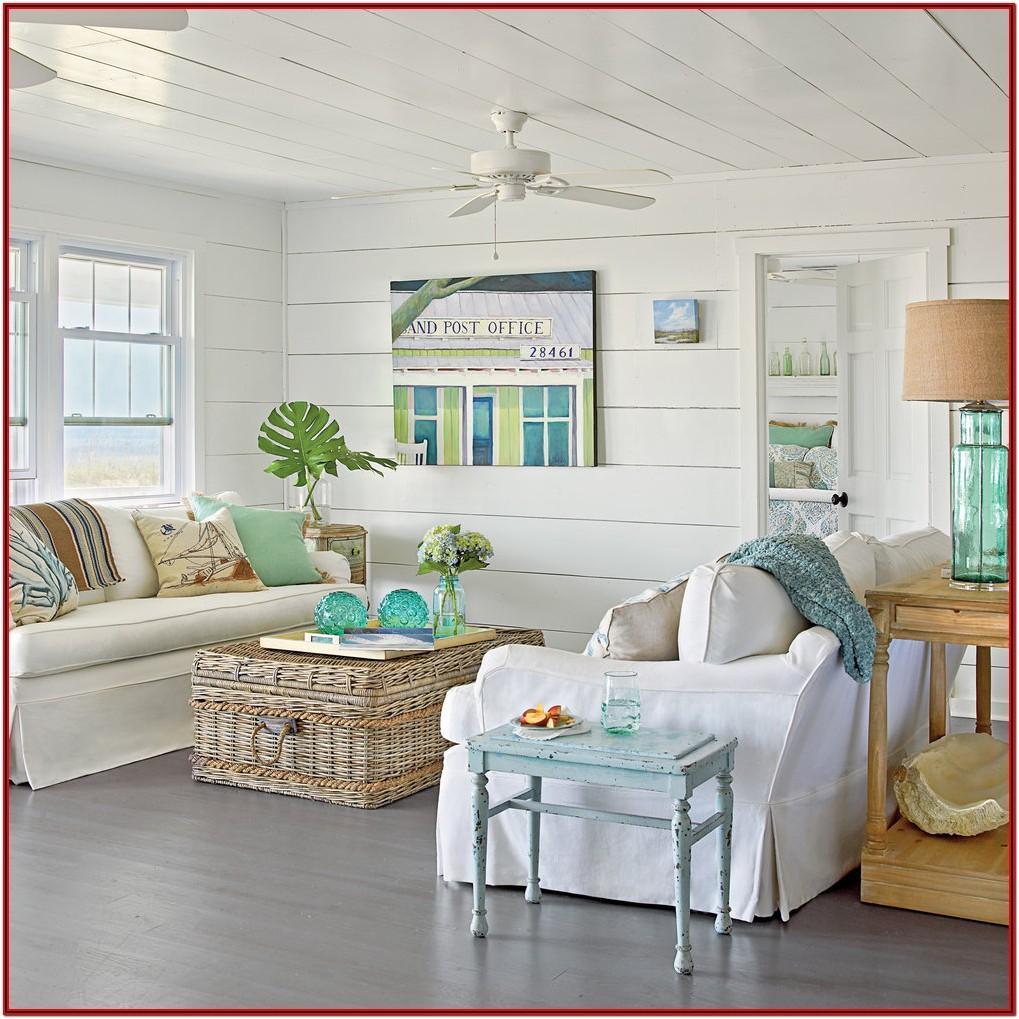 Beach Cottage Living Room Decorating Ideas