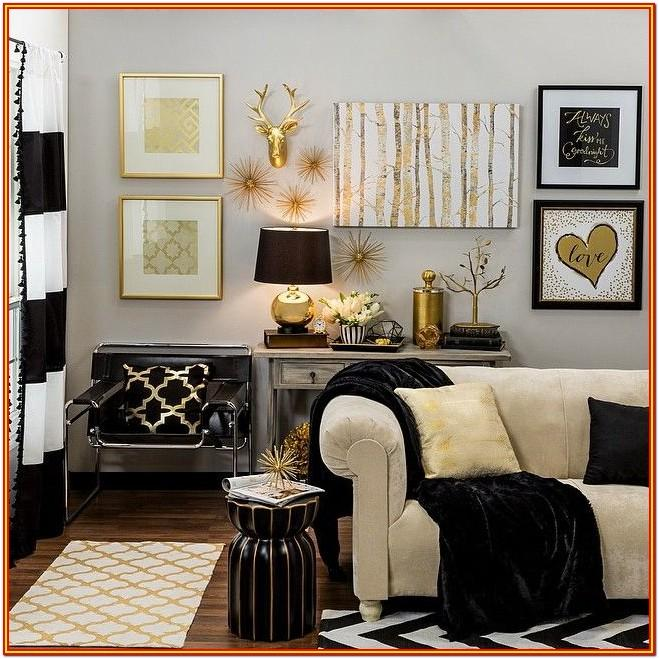 Black And Gold Decor For Living Room
