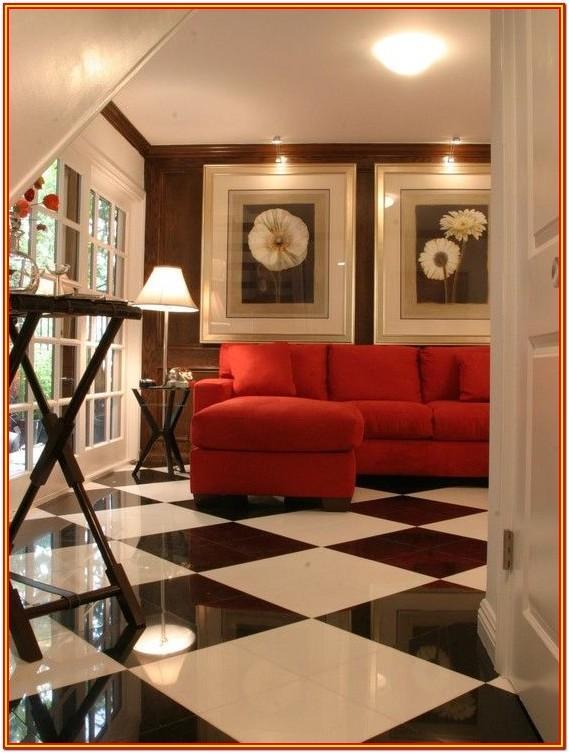 Black Floor Tiles Design For Living Room