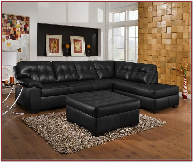Black Leather Couch In Living Room