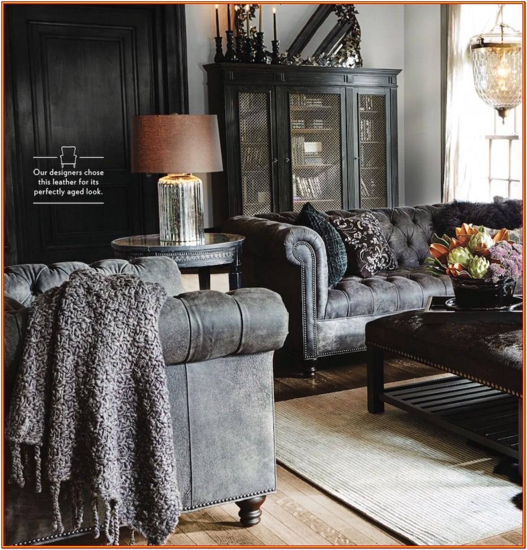Black Leather Living Room Decor