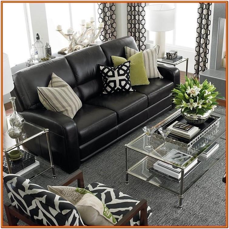 Black Leather Living Room Ideas Black Sofa