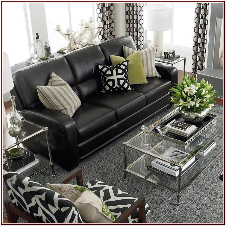 Black Leather Sectional Living Room Ideas