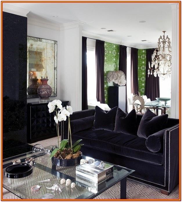 Black Velvet Couch Living Room