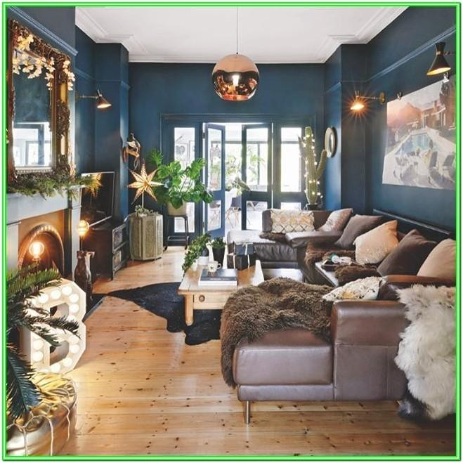 Blue And Copper Living Room Ideas
