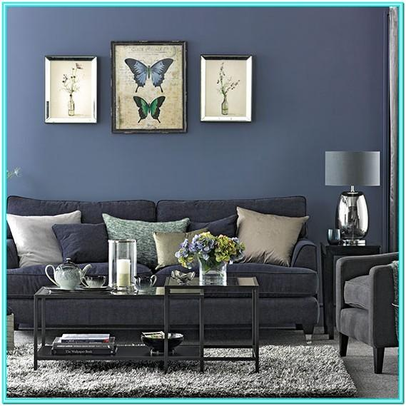 Blue And Gray Living Room Furniture