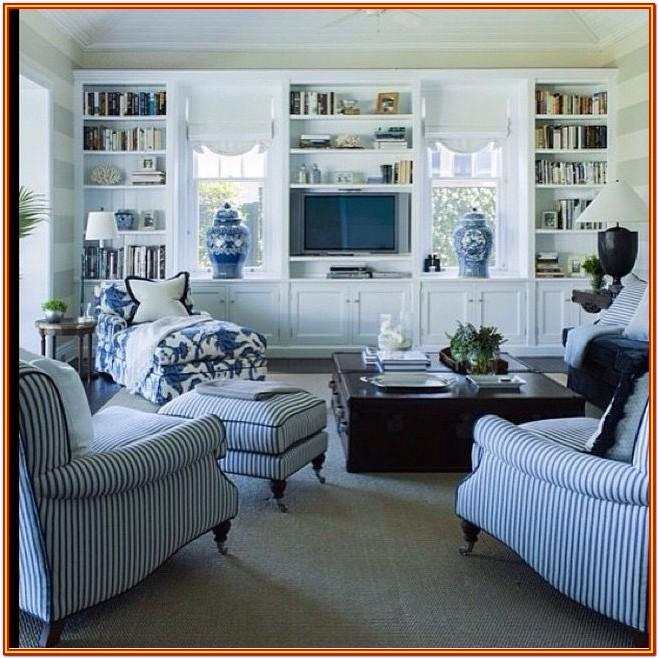 Blue And White Living Room Furniture