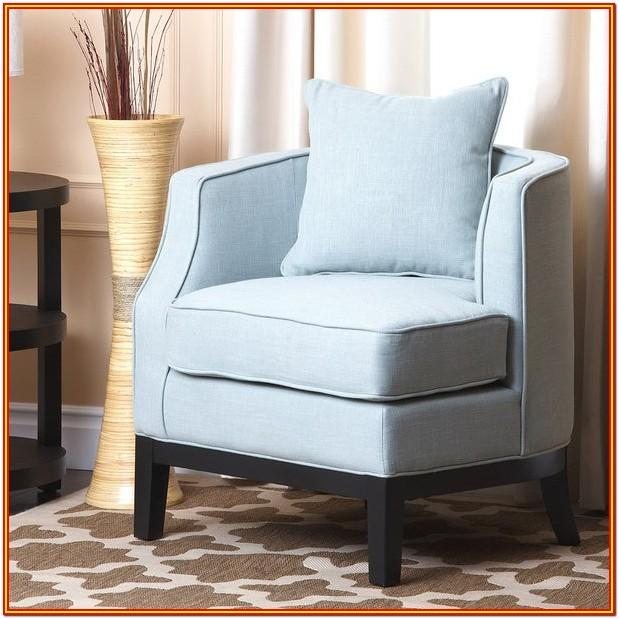 Blue Fabric Living Room Chairs