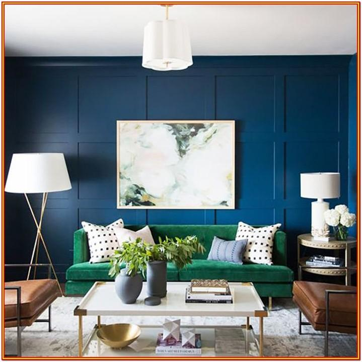 Blue Green Paint Colors For Living Room
