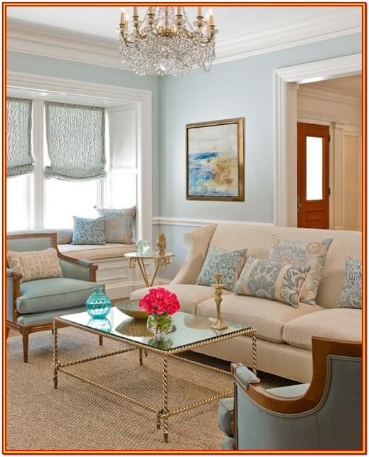 Blue Grey Sky Paint Living Room