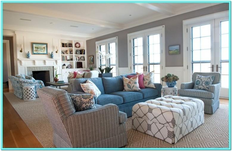 Blue Modern Living Room Furniture