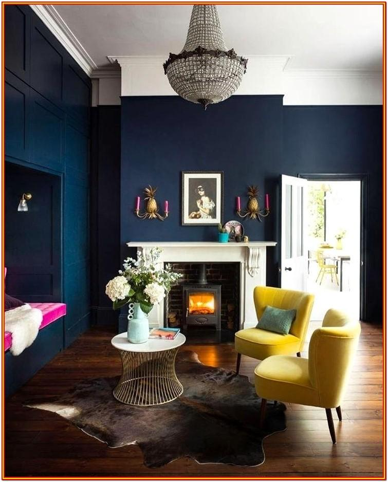 Blue Paint For Living Room Walls