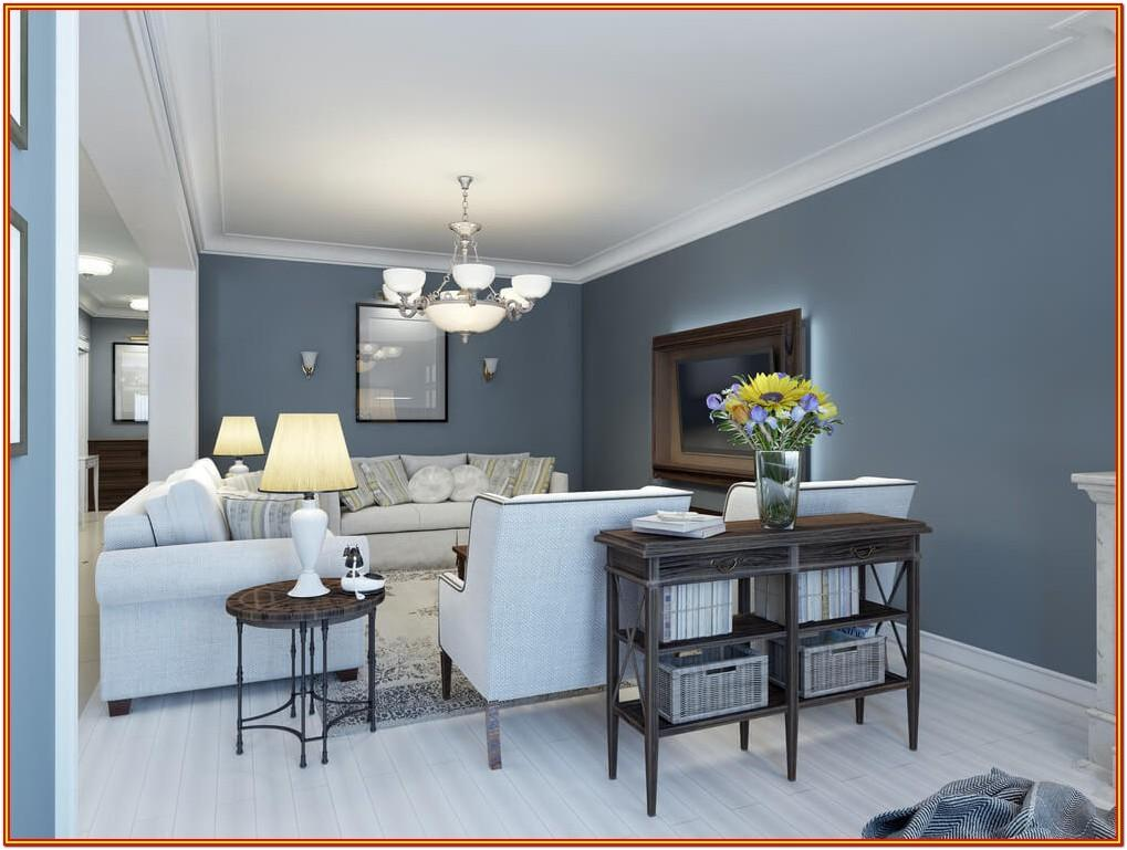 Blue Painting Living Room