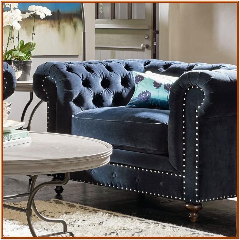 Blue Velvet Living Room Furniture