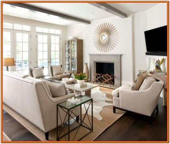 Boho Layered Rugs Living Room