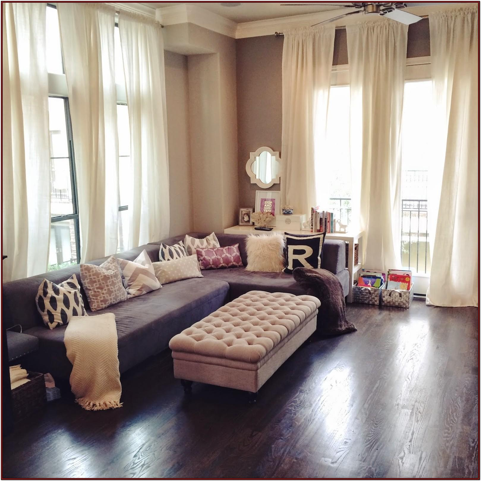 Brown And Gray Living Room Curtains