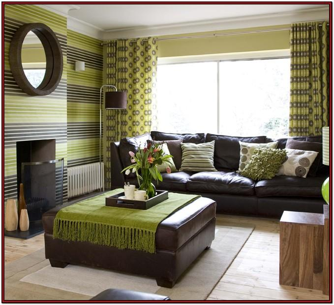 Brown And Olive Green Living Room