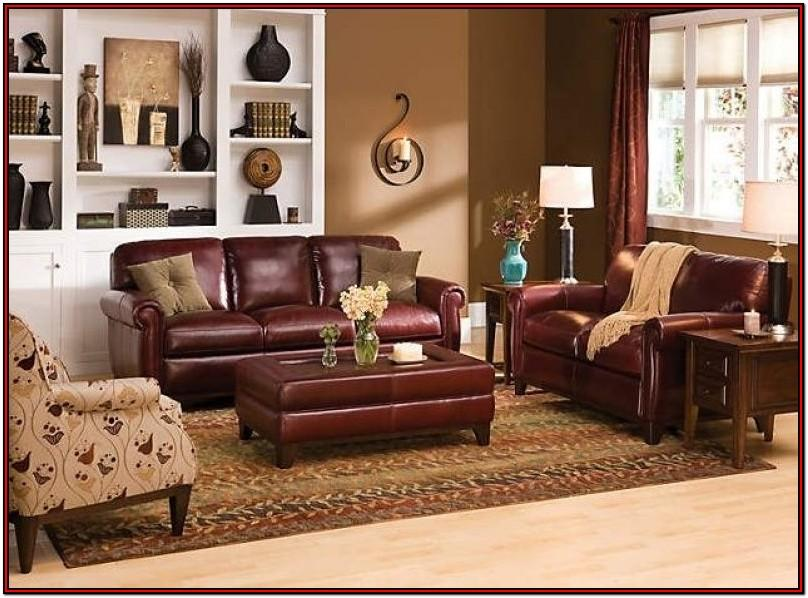 Burgundy Leather Couch Living Room Ideas