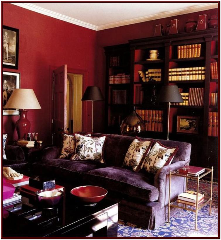 Burgundy Living Room Accessories