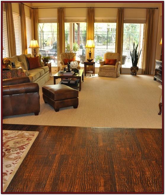 Carpet Or Wooden Floor In Living Room