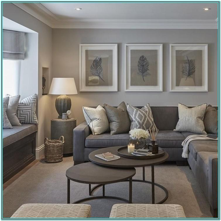 Charcoal Gray Cozy Grey Couch Living Room