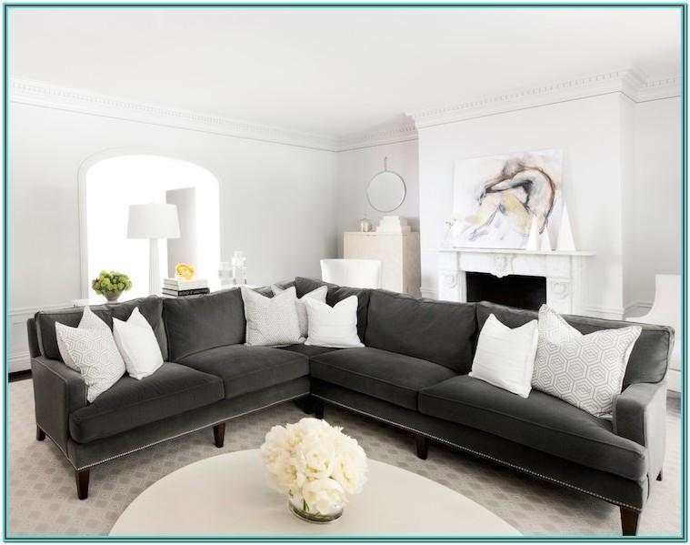 Charcoal Grey Leather Couch Living Room