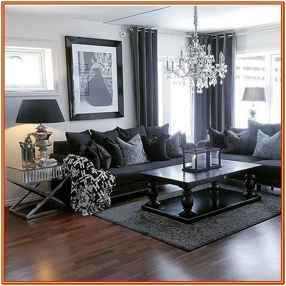 Classy Black Sofa Living Room Colour Scheme