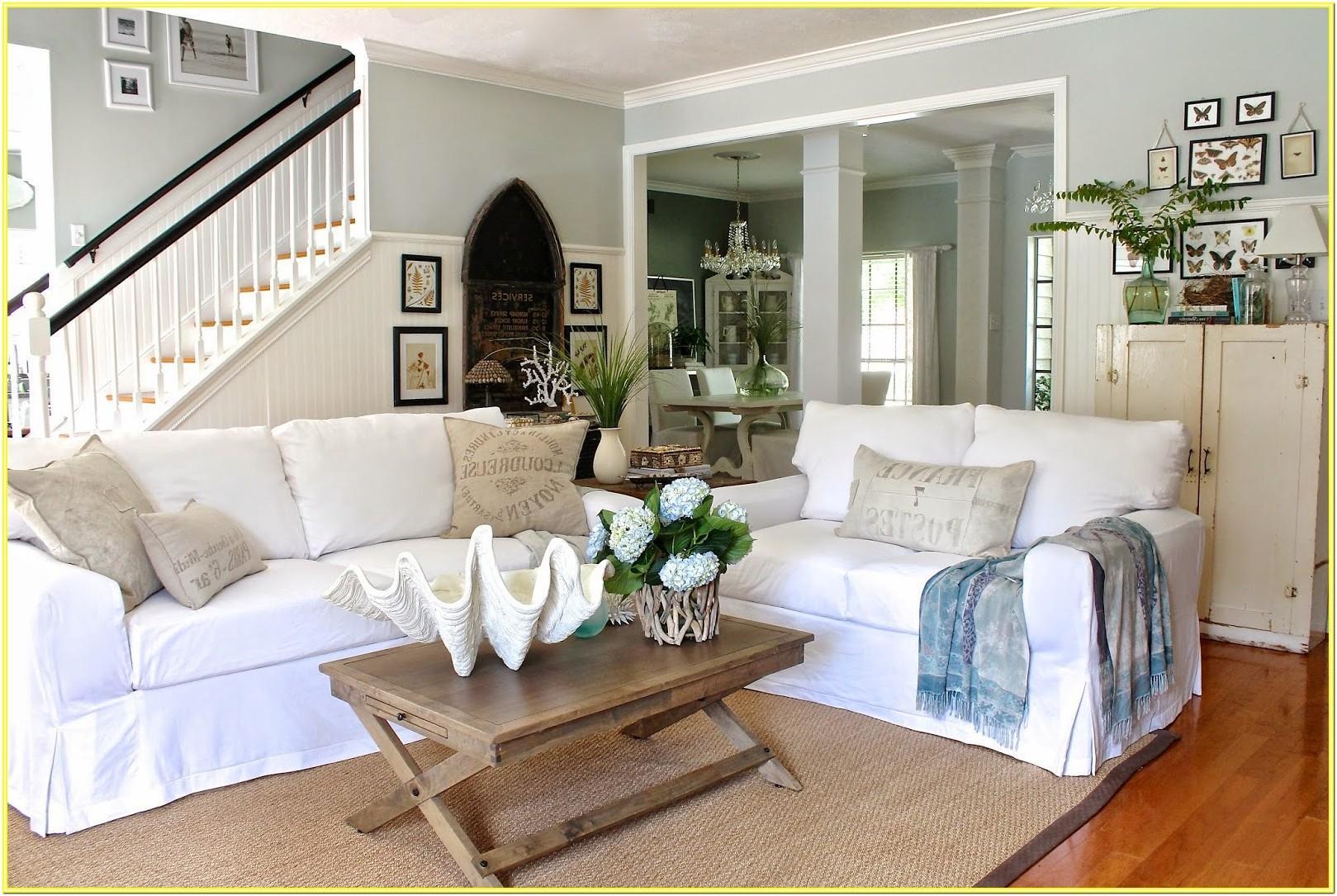 Coastal Living Room End Tables