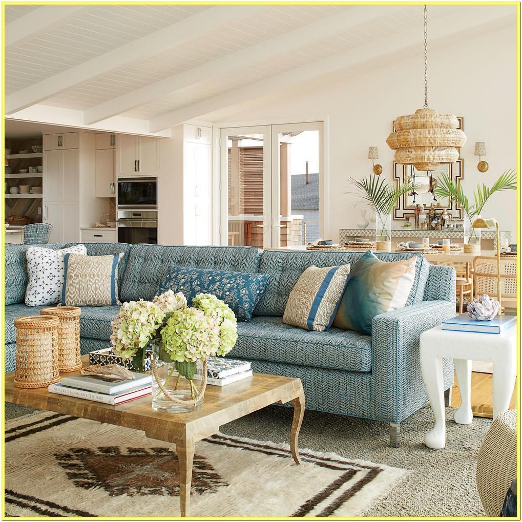 Coastal Style Living Room Curtains