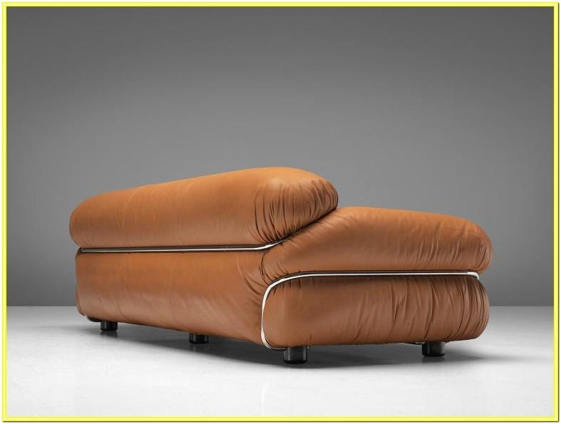 Cognac Leather Living Room Set