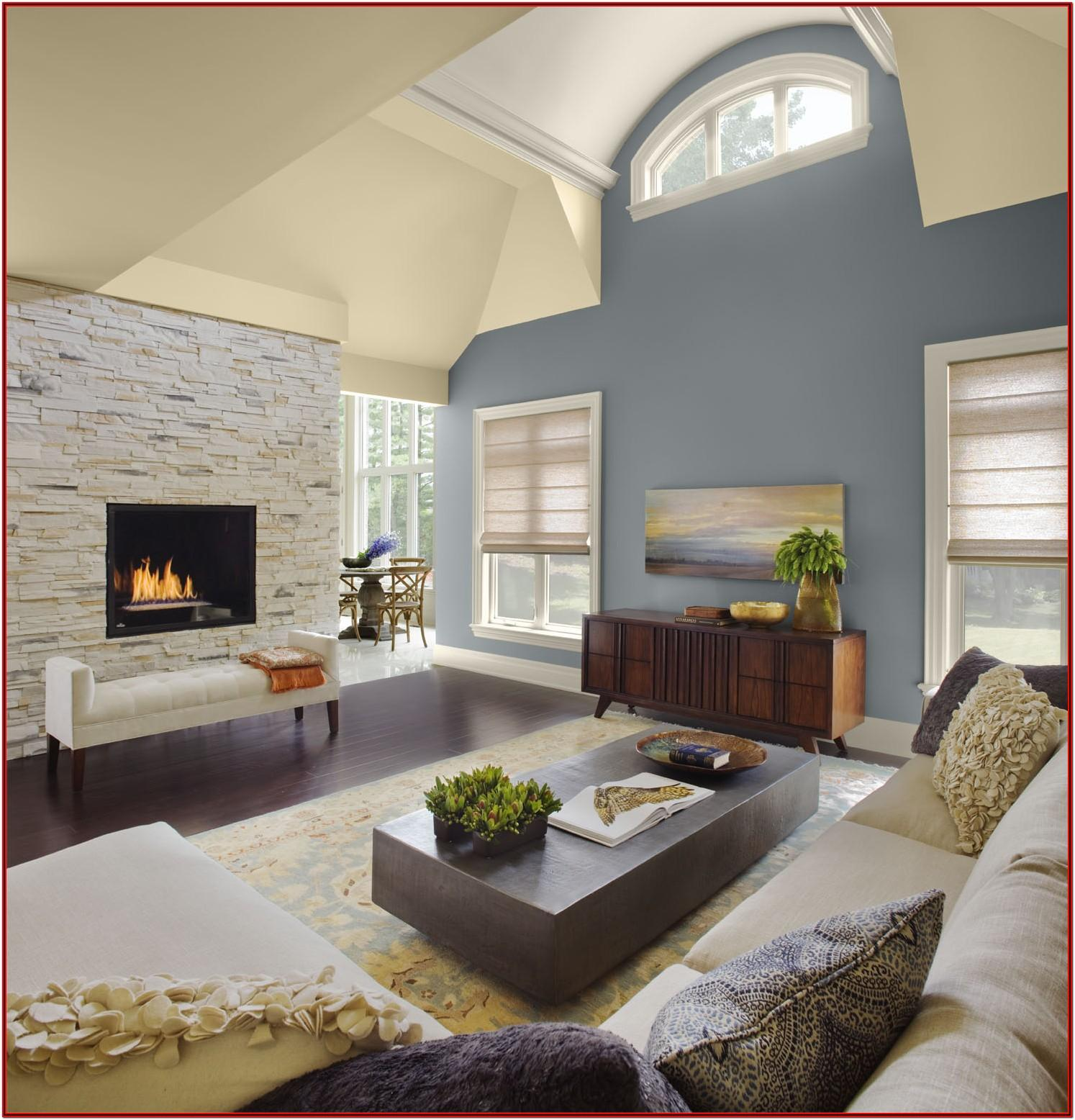Color High Ceiling Living Room Paint Ideas