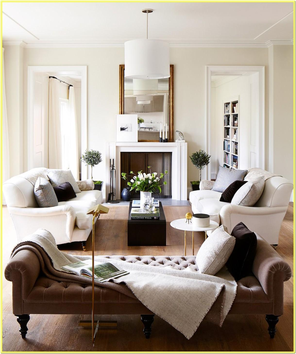 Color Schemes For Living Room With White Walls