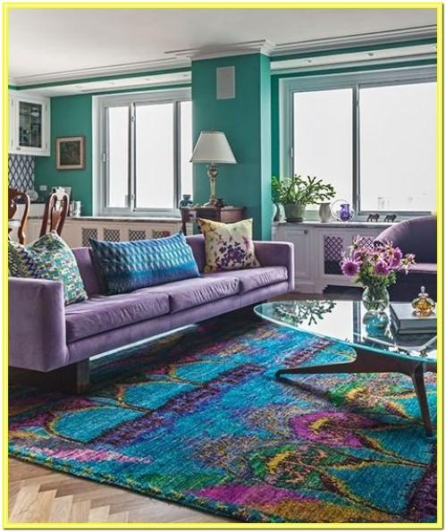 Colorful Rug Living Room Ideas