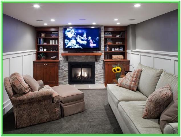 Contemporary Basement Living Room Ideas
