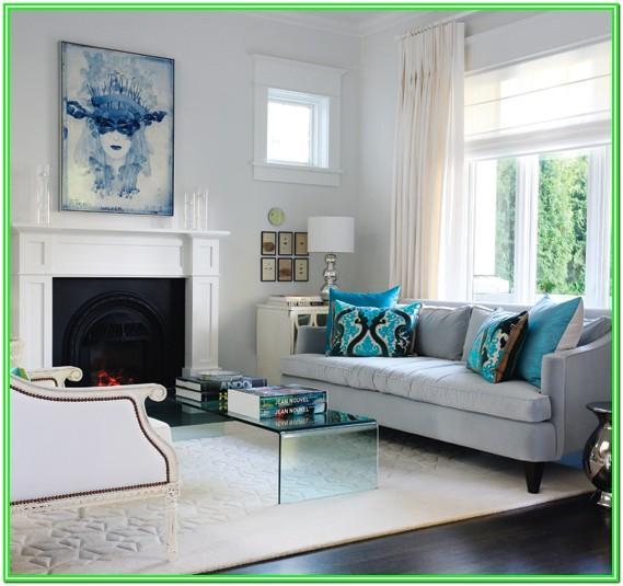 Contemporary Blue And Grey Living Room Ideas