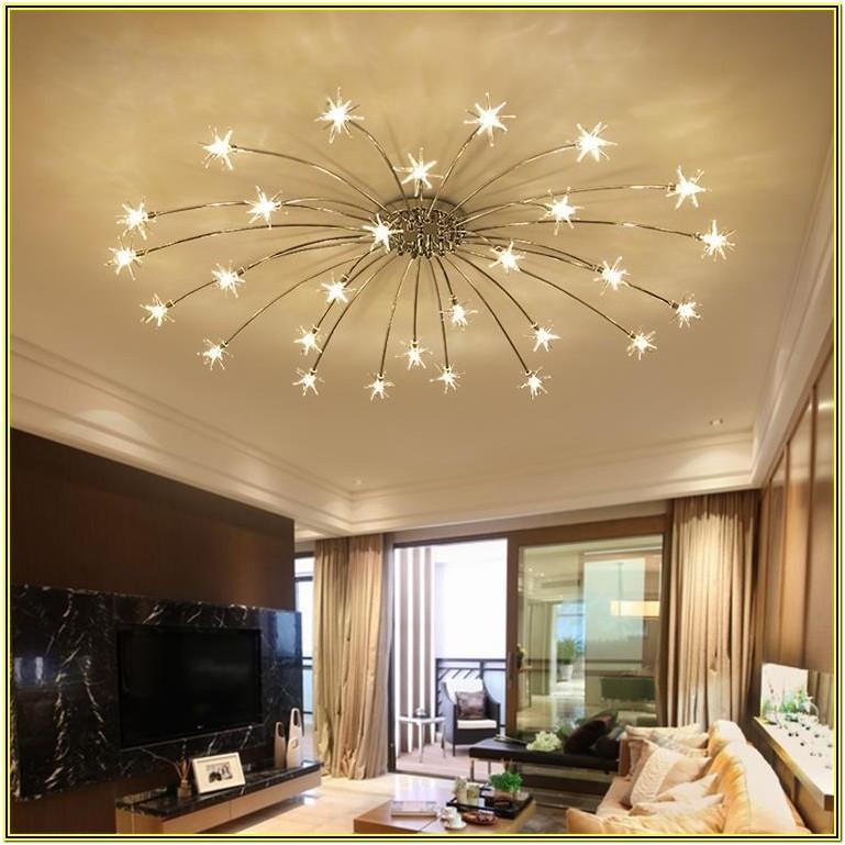 Contemporary High Ceiling Contemporary Living Room Chandelier