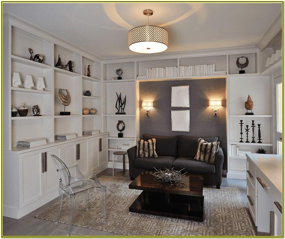Contemporary Living Room Built In Cabinets