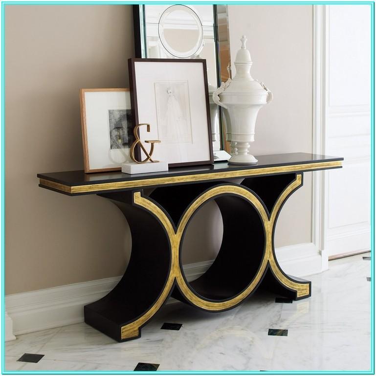 Contemporary Living Room Console Table Decor