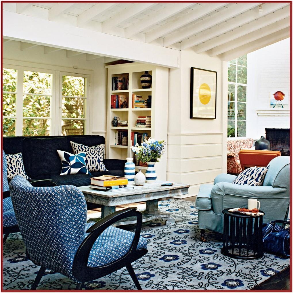 Cozy Coastal Farmhouse Living Room