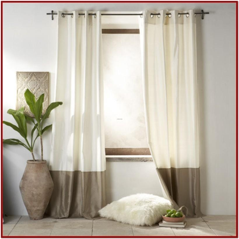 Curtains For Gray And White Living Room