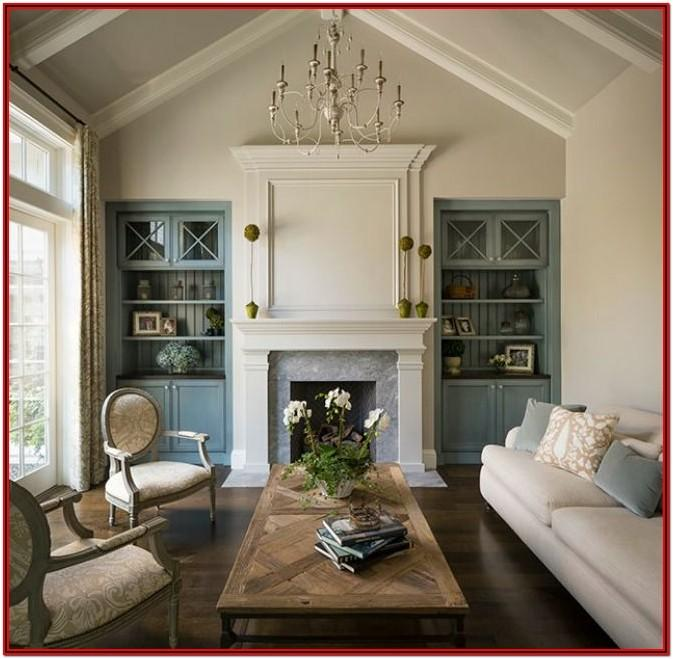 Custom Living Room Cabinets And Shelves
