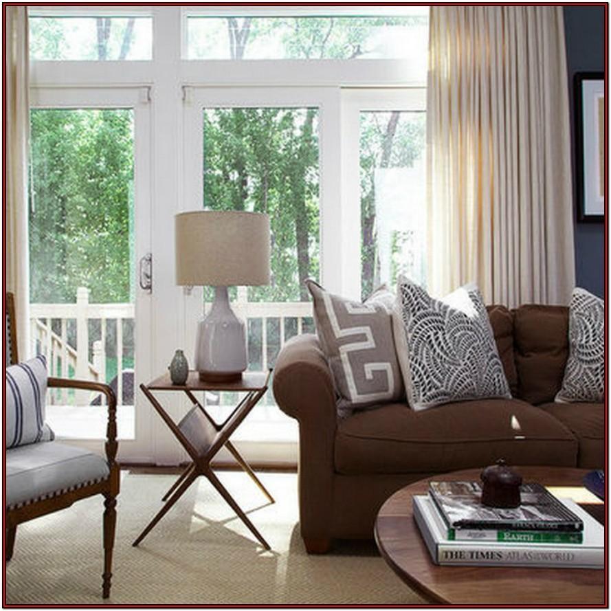 Dark Brown And Tan Living Room