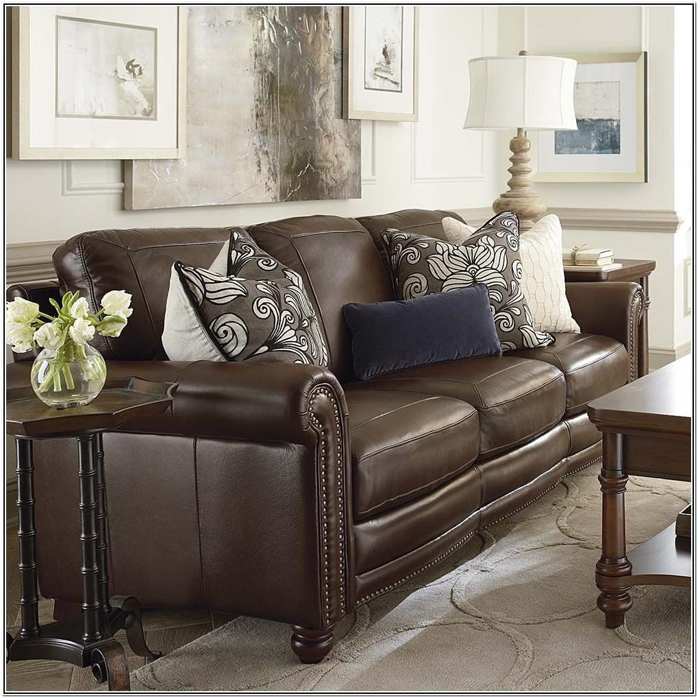Dark Brown Brown Leather Couch Living Room Ideas