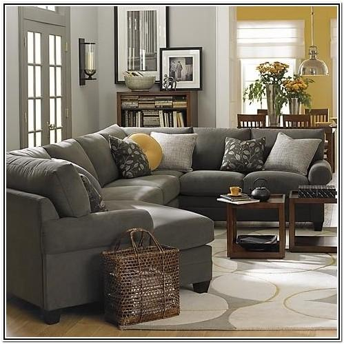 Dark Gray Leather Living Room Furniture