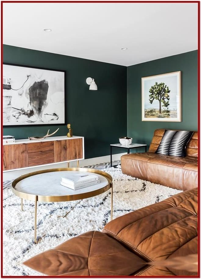 Dark Green Wall Paint Living Room
