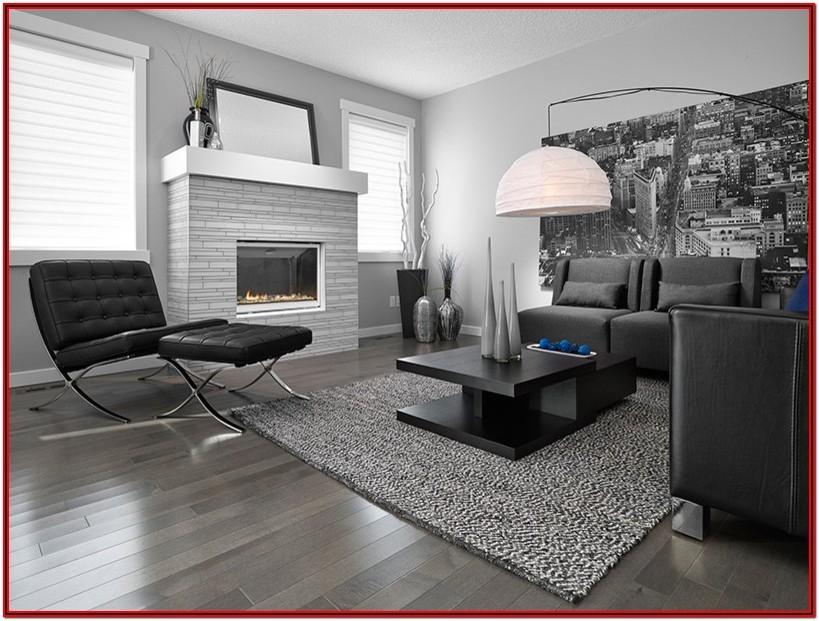 Dark Grey Floor Tiles Living Room
