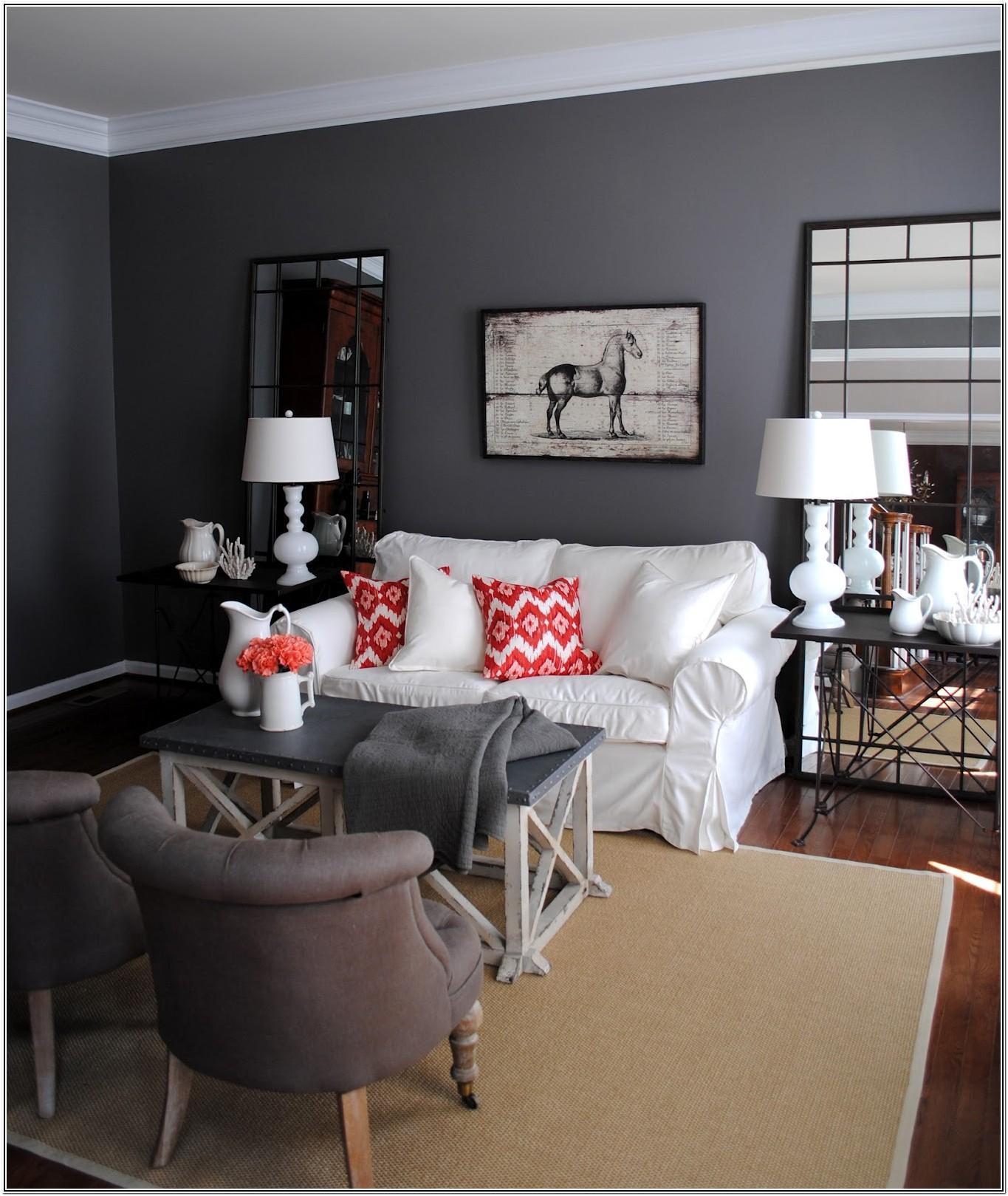 Dark Grey Living Room Paint Colors