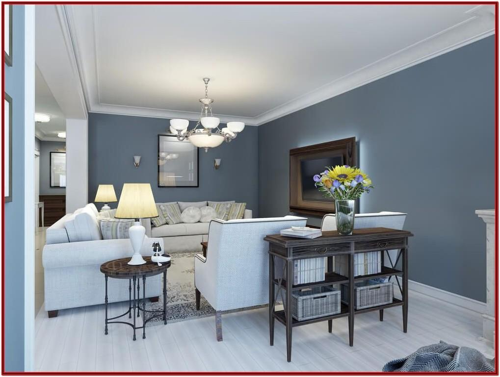 Dark Grey Wall Paint Living Room