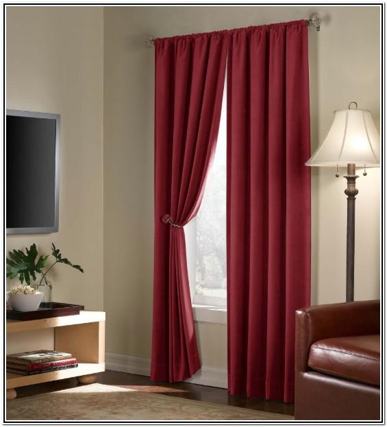 Dark Red Curtains For Living Room